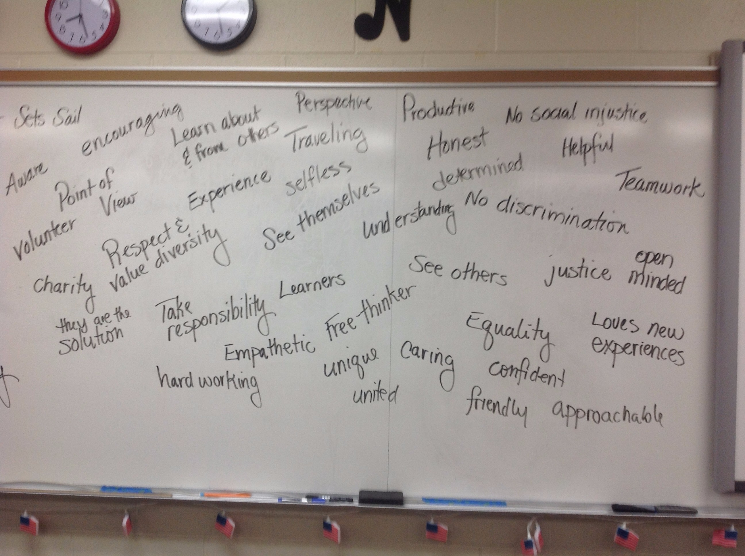 mrs holloway s webpage class brainstorming from dry erase board